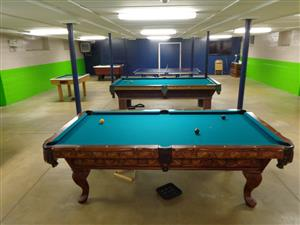 Refinished Pool Tables